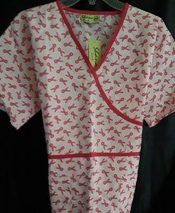 Breast cancer ribbon scrub